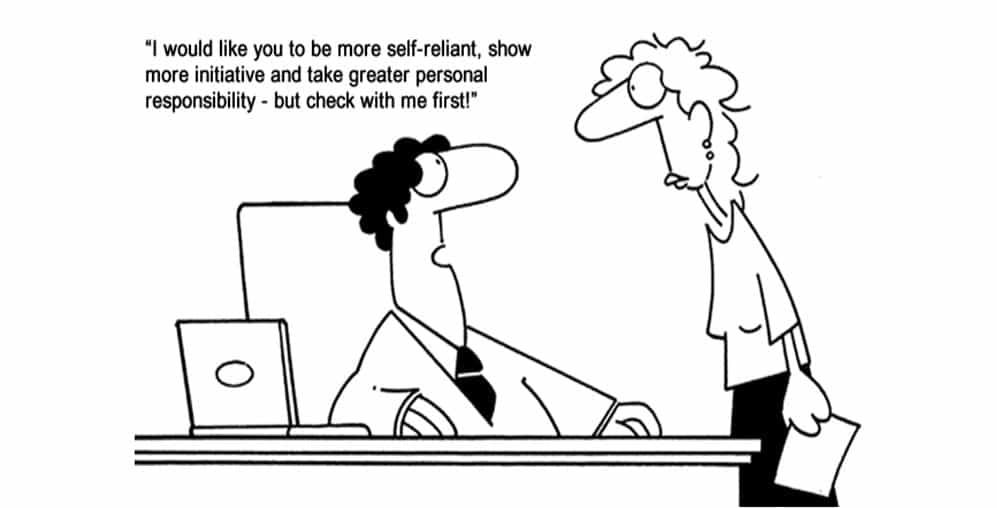 micromanaging boss